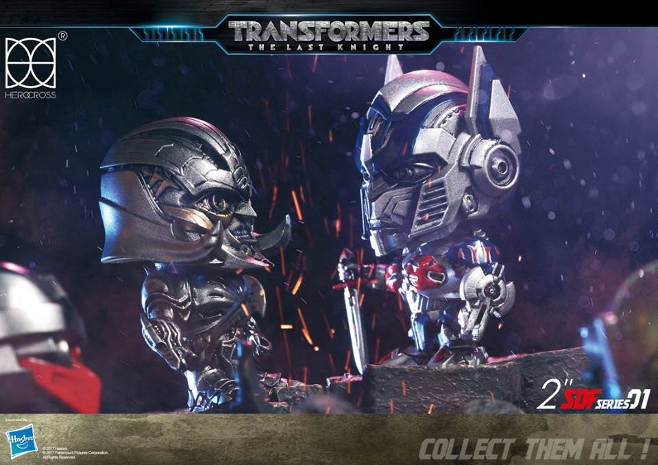 Transformers News: New Images of Upcoming Transformers The Last Knight Herocross Super-Deformed Figures