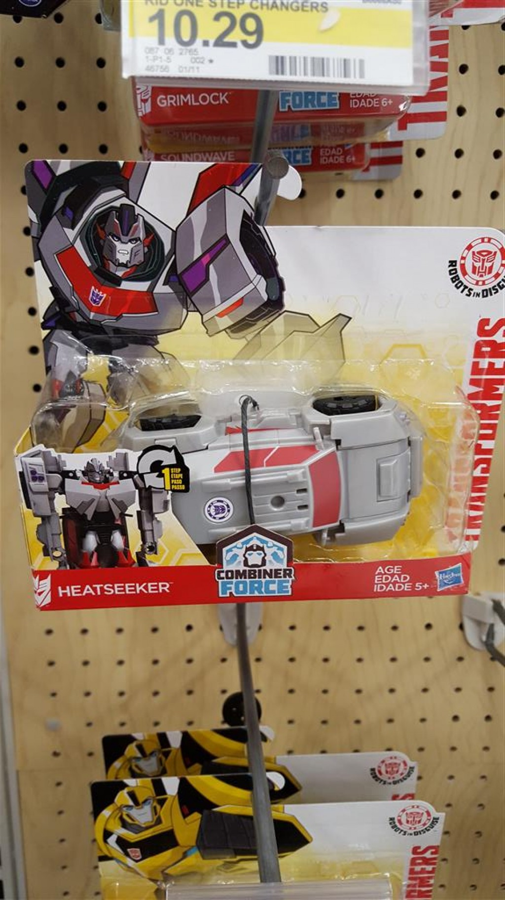 Transformers News: Robots in Disguise New Strongarm and Heatseeker One Steps Found in US and Video Review