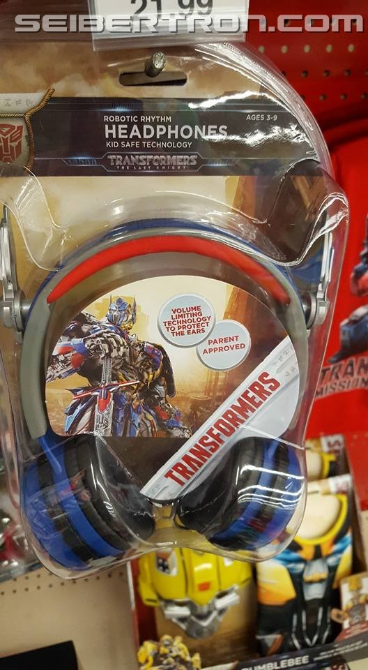 Transformers News: Transformers: The Last Knight Headphones, Costumes, Mission to Cybertron Shirts Found at Retail