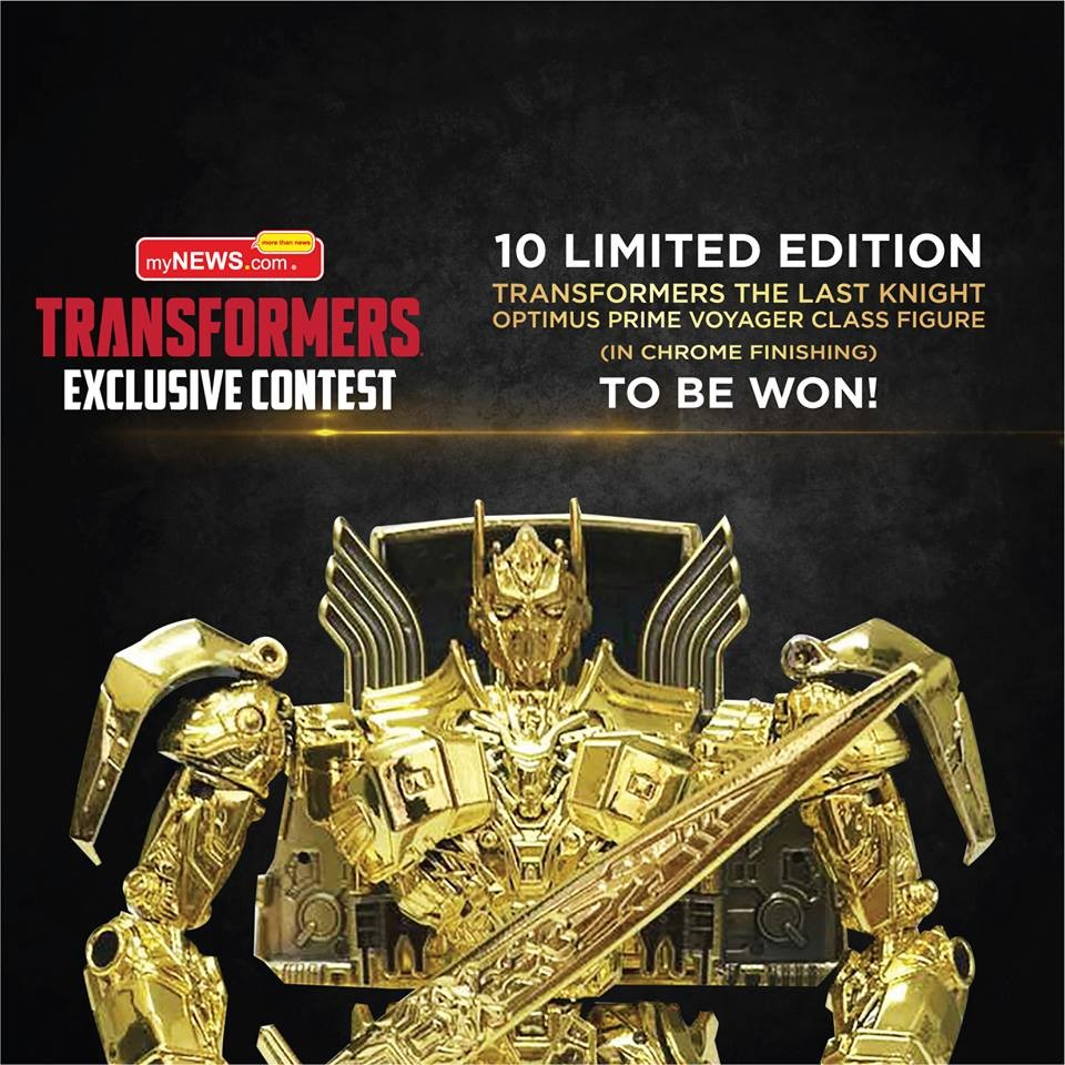 Transformers News: Malaysia myNEWS Limited Edition Gold Optimus Prime Contest