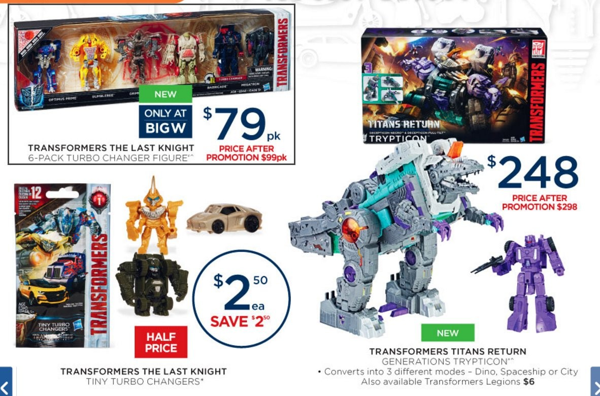 Transformers News: BigW Transformers Sale Catalogue: Trypticon, The Last Knight, RID, More
