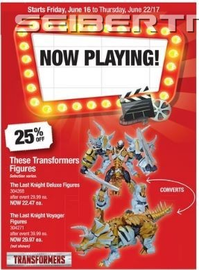 Transformers News: Big Deals At Toysrus Canada for The Last Knight Toys with Possible Half Price on Voyagers and More