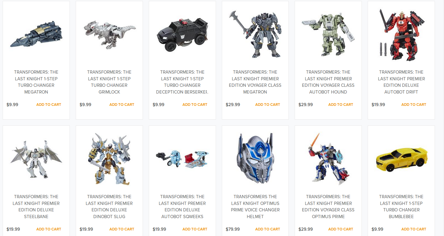 Transformers News: Wave 2 of Transformers: The Last Knight Toys on HTS.com