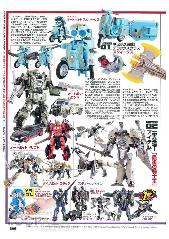 Transformers News: Figure King 233 Scans - Transformers: The Last Knight, Legends, Masterpiece, More