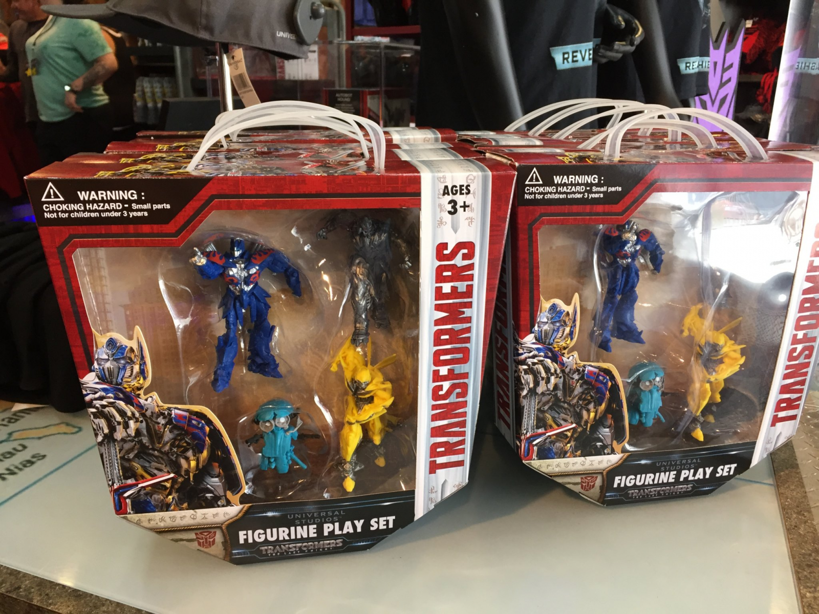 new transformers the last knight figurines found at universal studios