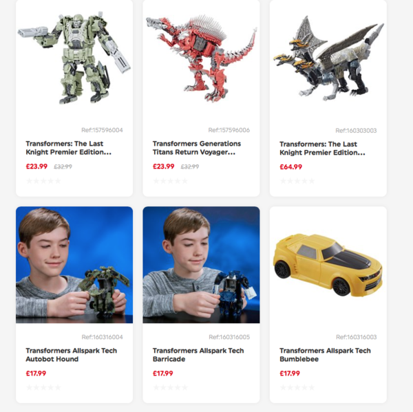 Transformers News: Smyths UK Listings for Transformers Titans Return Overlord, Octone, Blitzwing; The Last Knight Drago