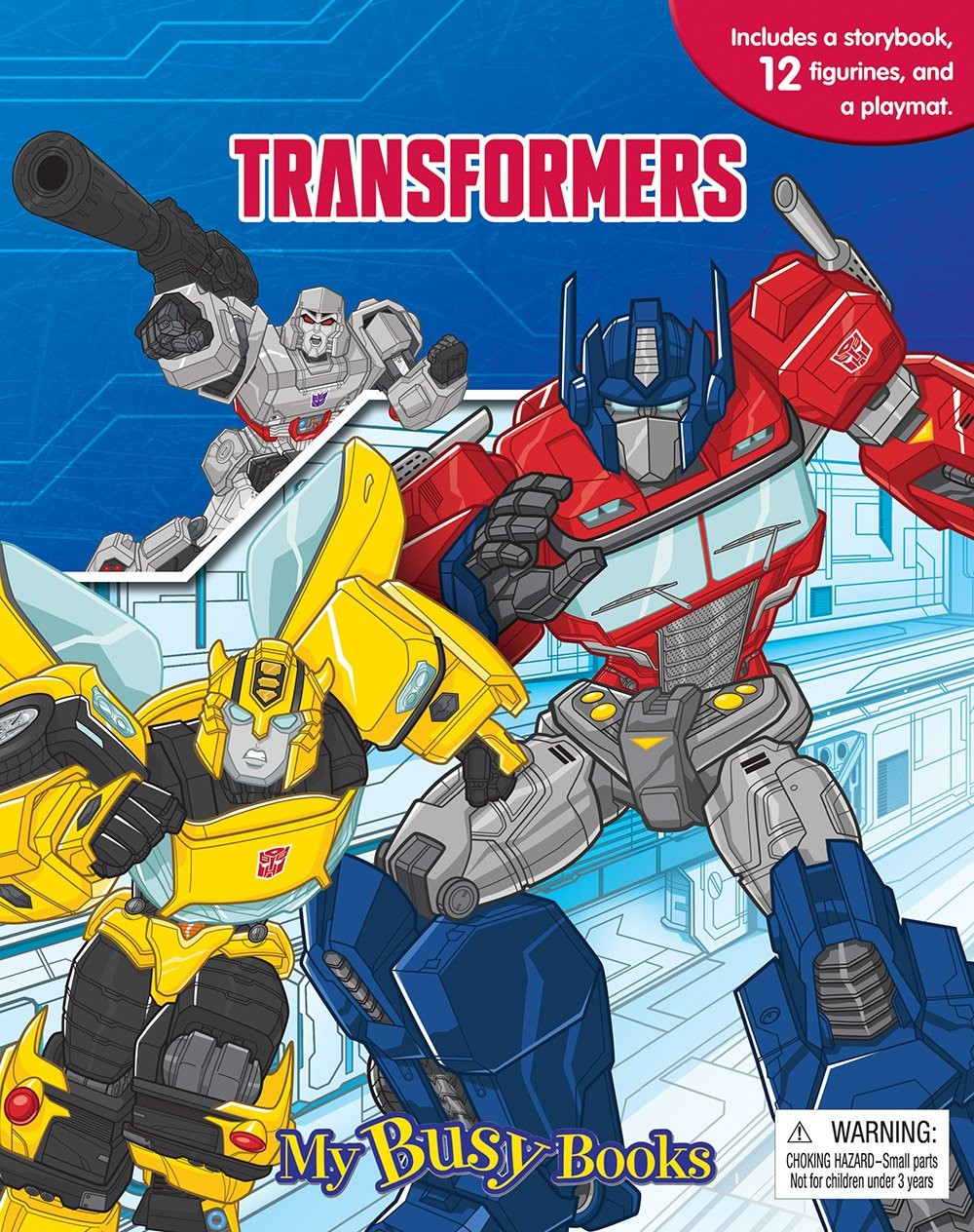Transformers News: First Images of Transformers Busy Book with Figures and Playmat