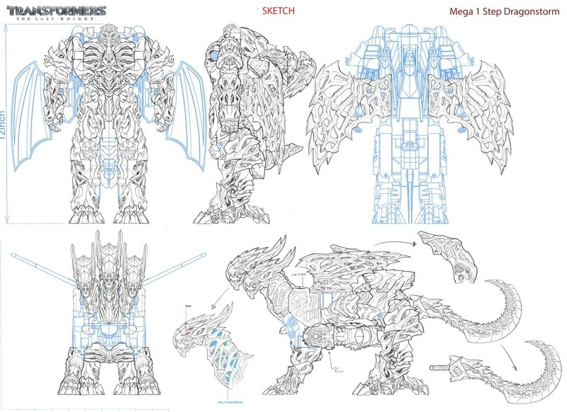 Transformers News: SDCC 2017: Transformers: The Last Knight Toy Concepts and Schematics