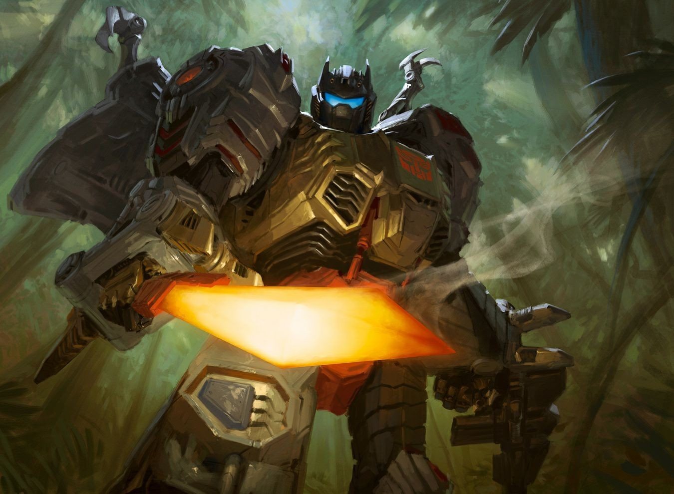 Transformers News: Clean Art for Hascon 2017 Magic The Gathering Grimlock, by Tyler Jacobson