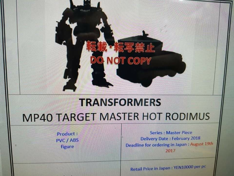 Transformers News: Takara Tomy Transformers Masterpiece MP-40 Targetmaster Hot Rodimus