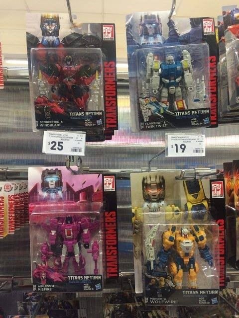 Transformers News: Titans Return Wave 5 AND 6 Deluxes Found at Australian Retail