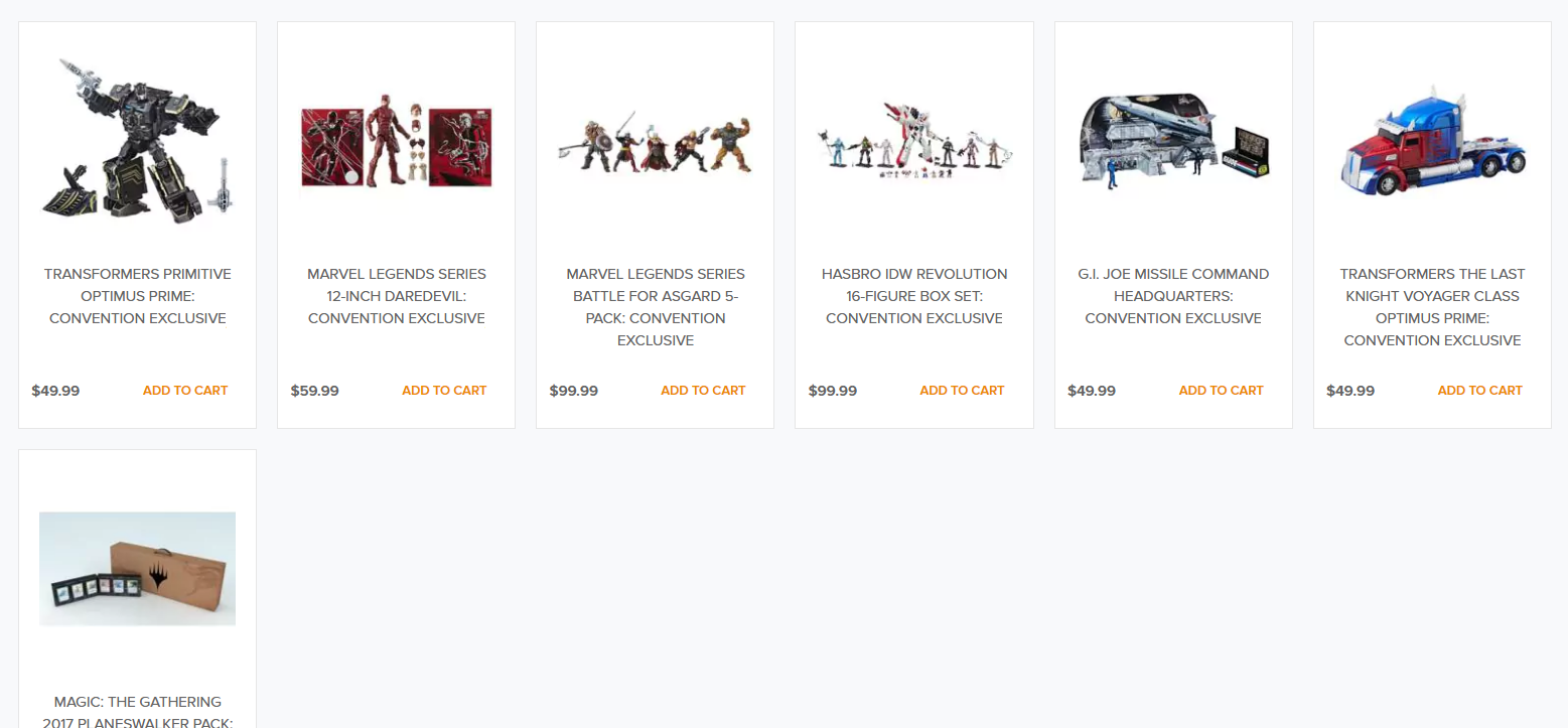 Transformers News: Friendly Reminder that the Hasbro SDCC 2017 Exclusives will be up on HTS Today