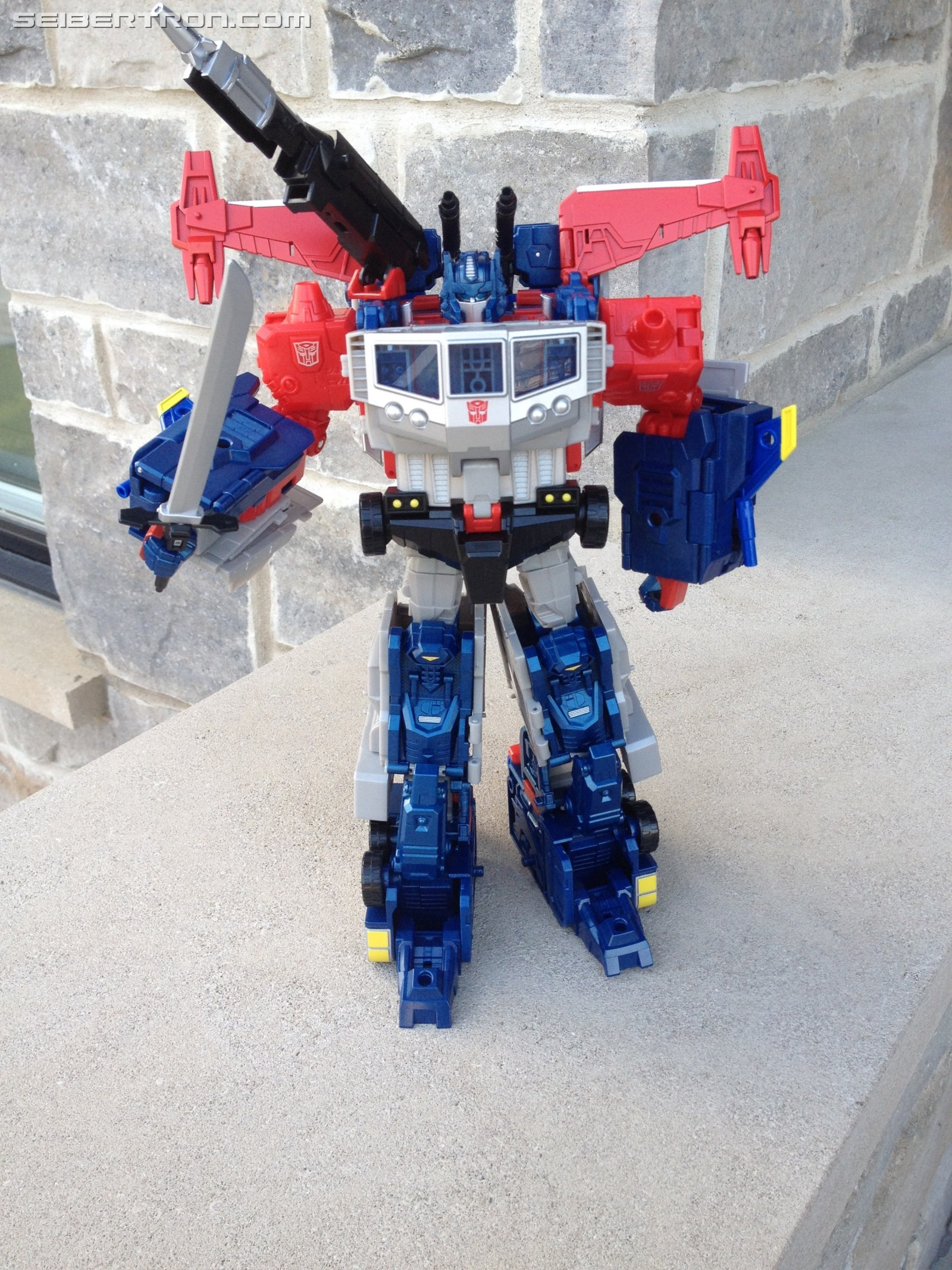 Transformers News: First Images of Hasbro Transformers Titans ReturnMagnus Prime Combined with Takara Legends Godbomber