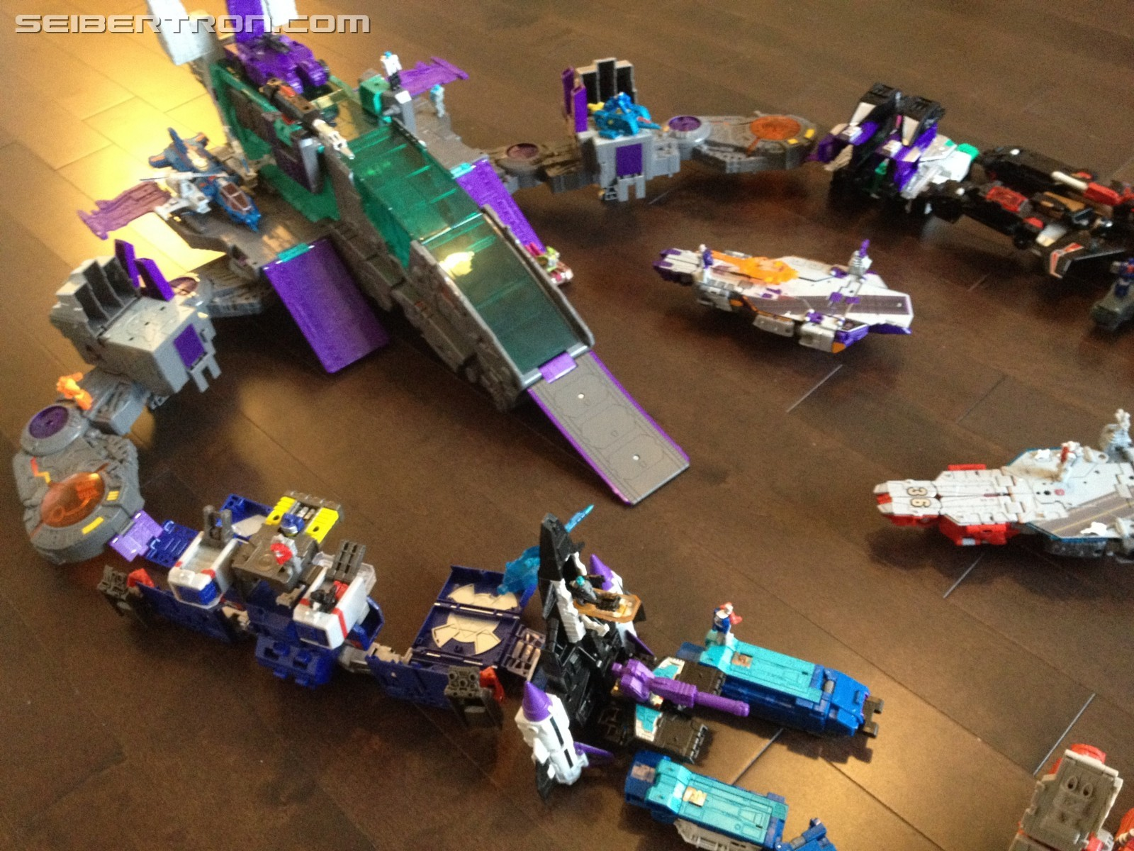 Transformers News: Pictures of Every Transformers Titans Return Bases Connected Together
