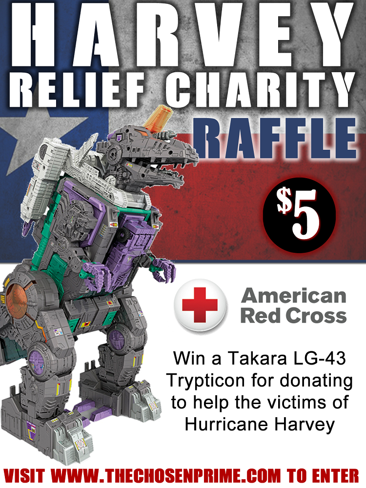 Transformers News: Michael Bay and Mark Wahlberg on Hurricane Harvey Relief Support, The Chosen Prime Charity Raffle