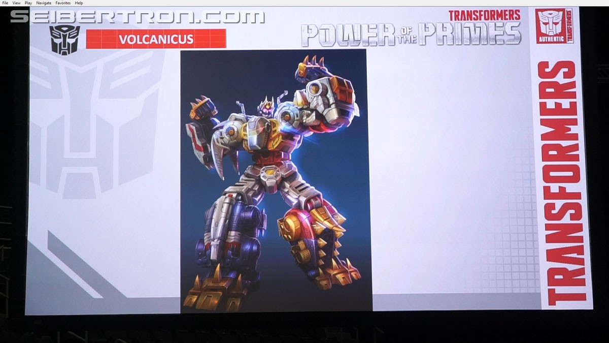 Transformers News: Transformers Power of the Primes Images from #Hascon Panel with Dinobots and Leader Optimus Prime