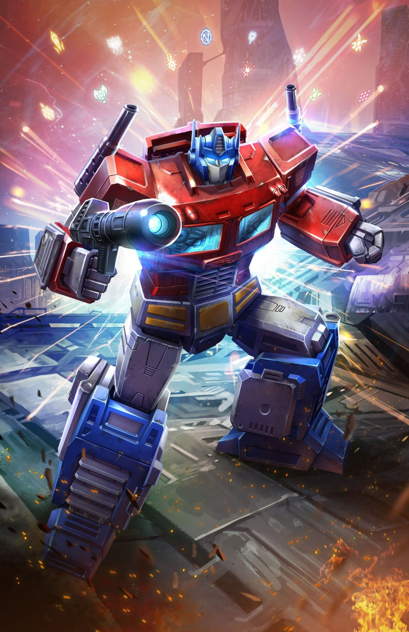 official artwork for transformers power of the primes