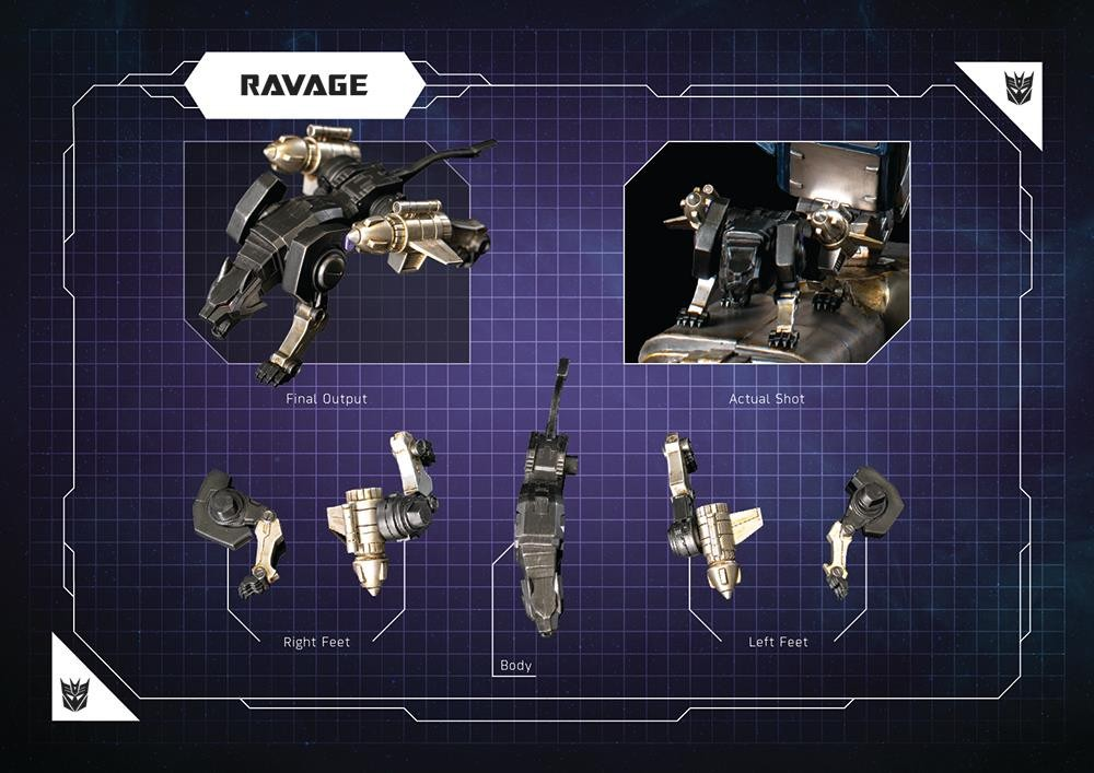 Transformers News: Final Images of Imaginarium Art Transformers Soundwave Statue, with Ravage, Rumble, Laserbeak