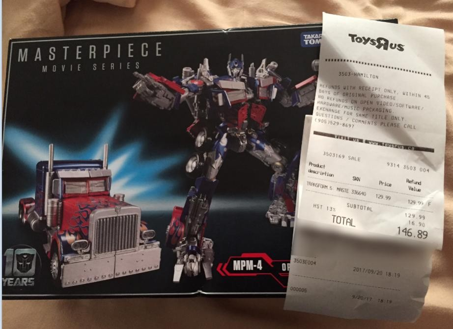 Transformers News: Canada Transformers Sightings Rundown Including MPM Optimus and Current Sale at Toysrus