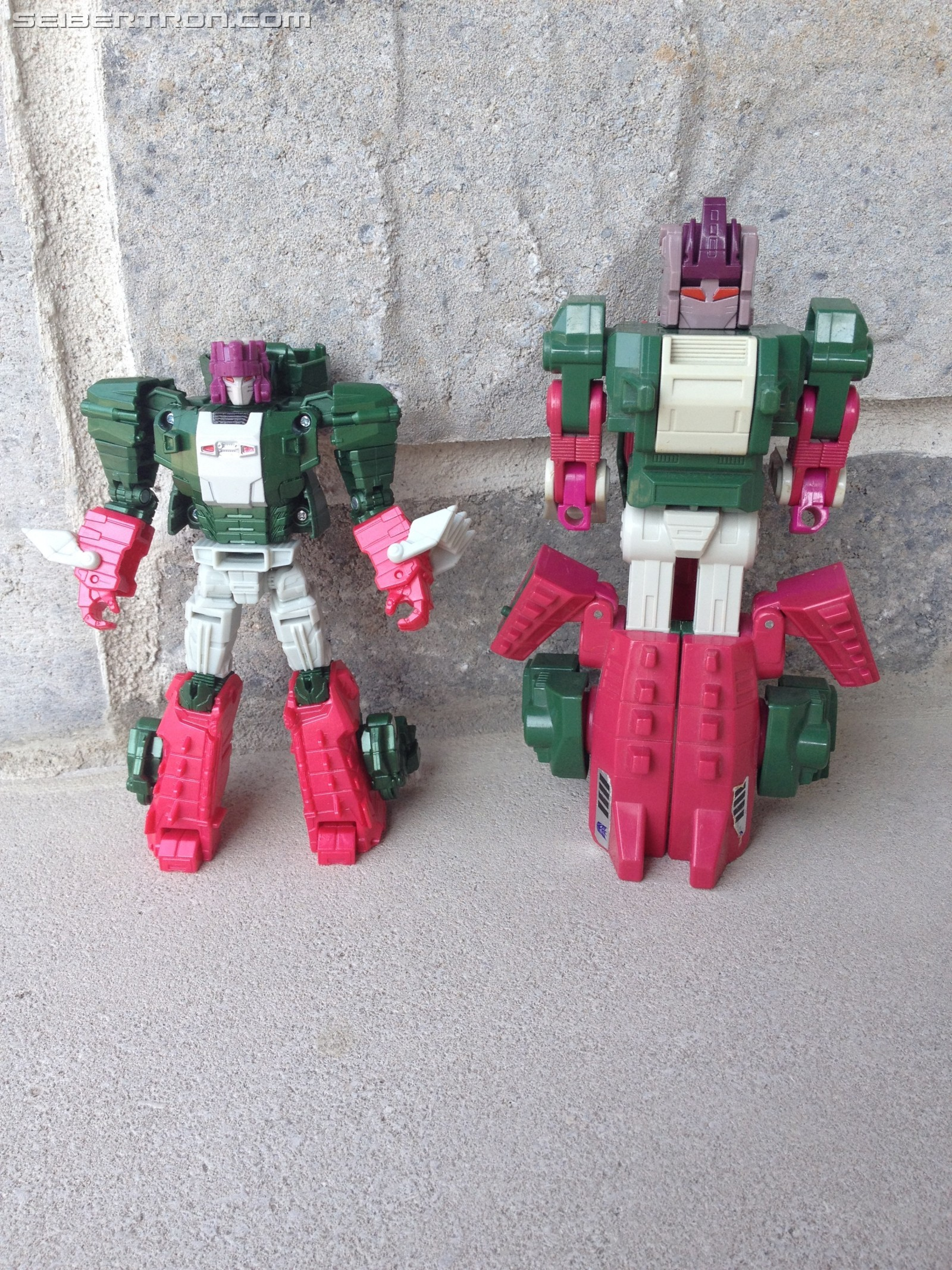 Transformers News: Comparison Images Between Transformers Titans Return Shuffler and G1 Shuffler