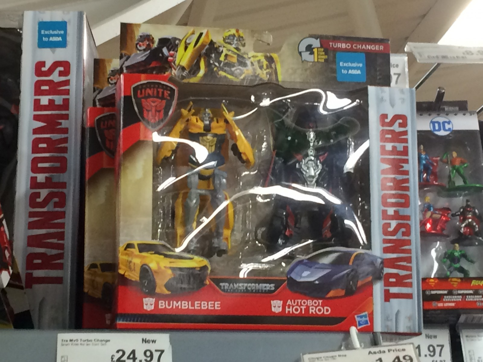 Transformers News: Transformers The Last Knight Hot Rod News: One Step 2 Pack Found in UK and Price Decrease for Legio