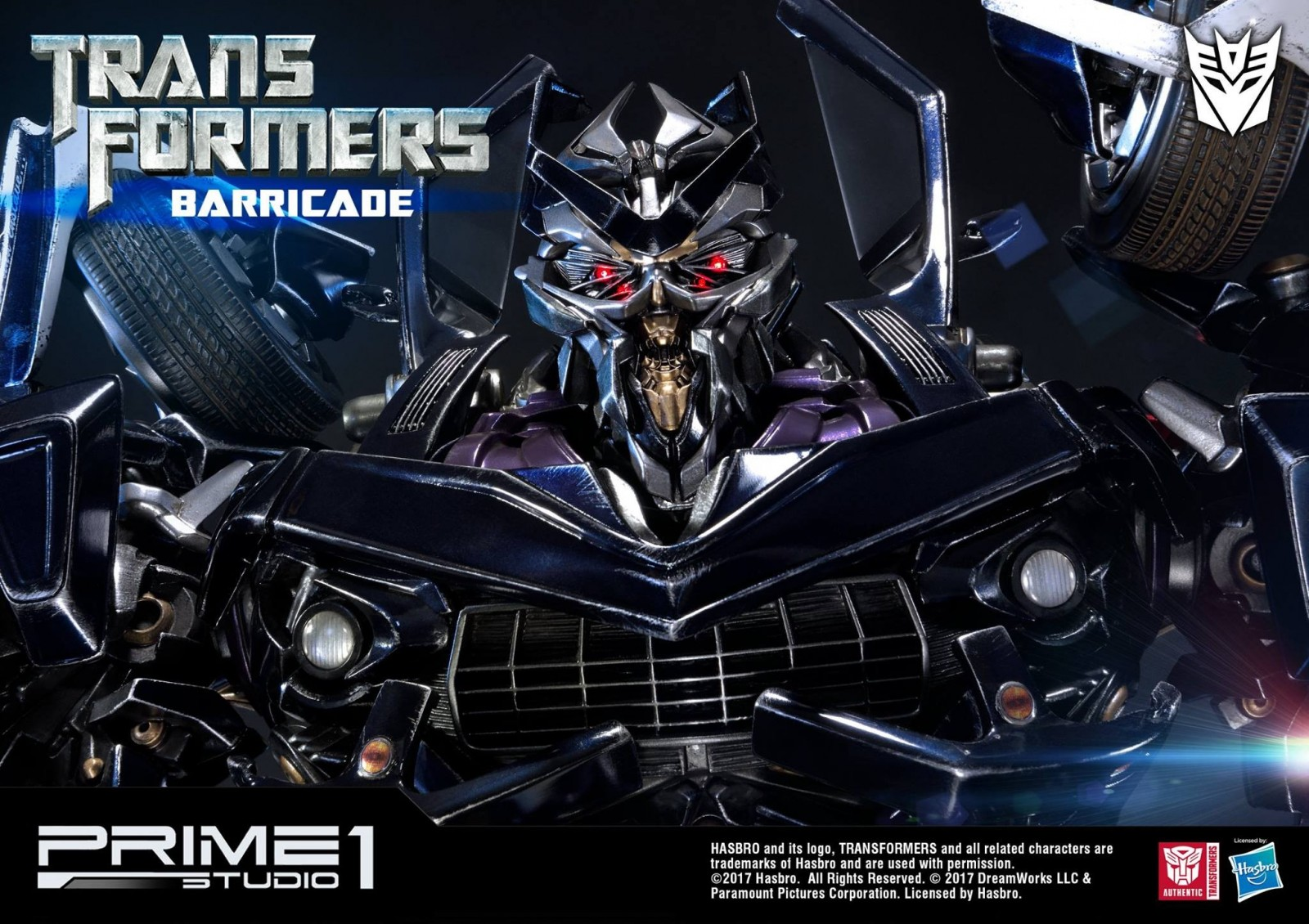 Transformers News: Prime 1 Studio Transformers MMTFM-15 Barricade Images