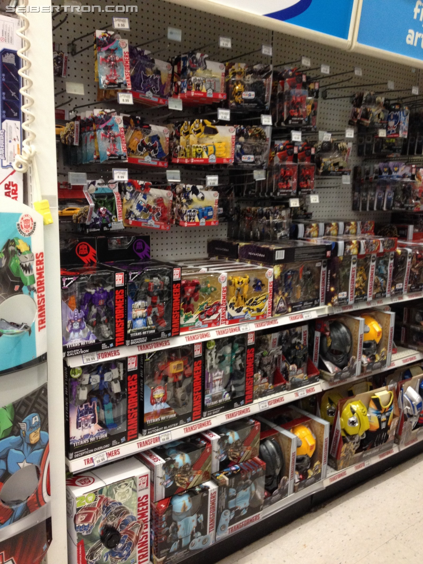 Fall Restock in Full Swing at Toysrus Canada with Entire Aisle Dedicated to Transformers
