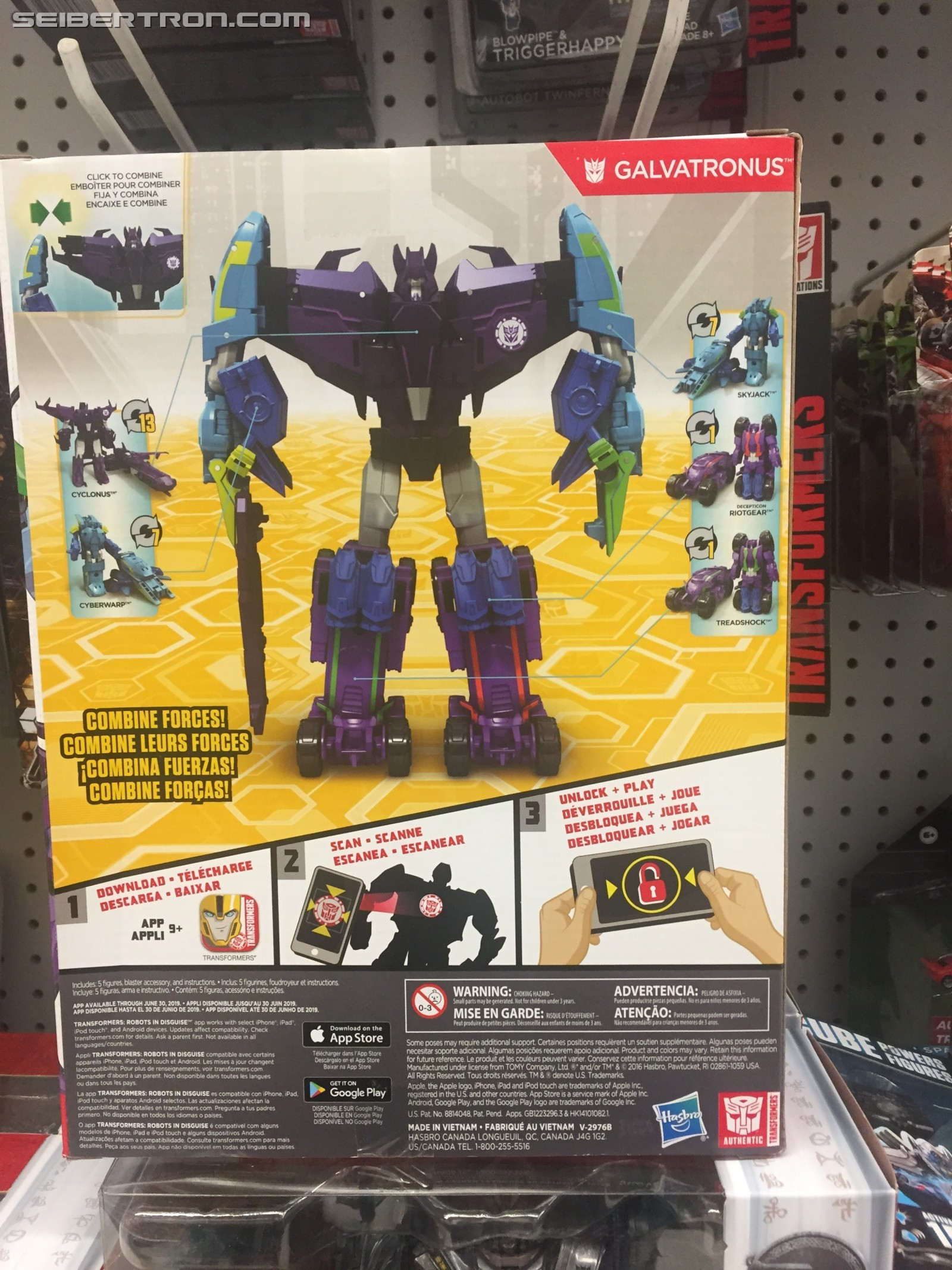 Transformers News: Transformers: Robots in Disguise Combiner Force Galvatronus Set Sighted at US and Canadian Retail