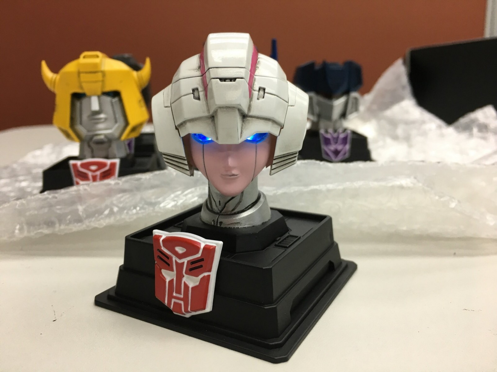 Transformers News: Herocross G1 Transformers Head Statues