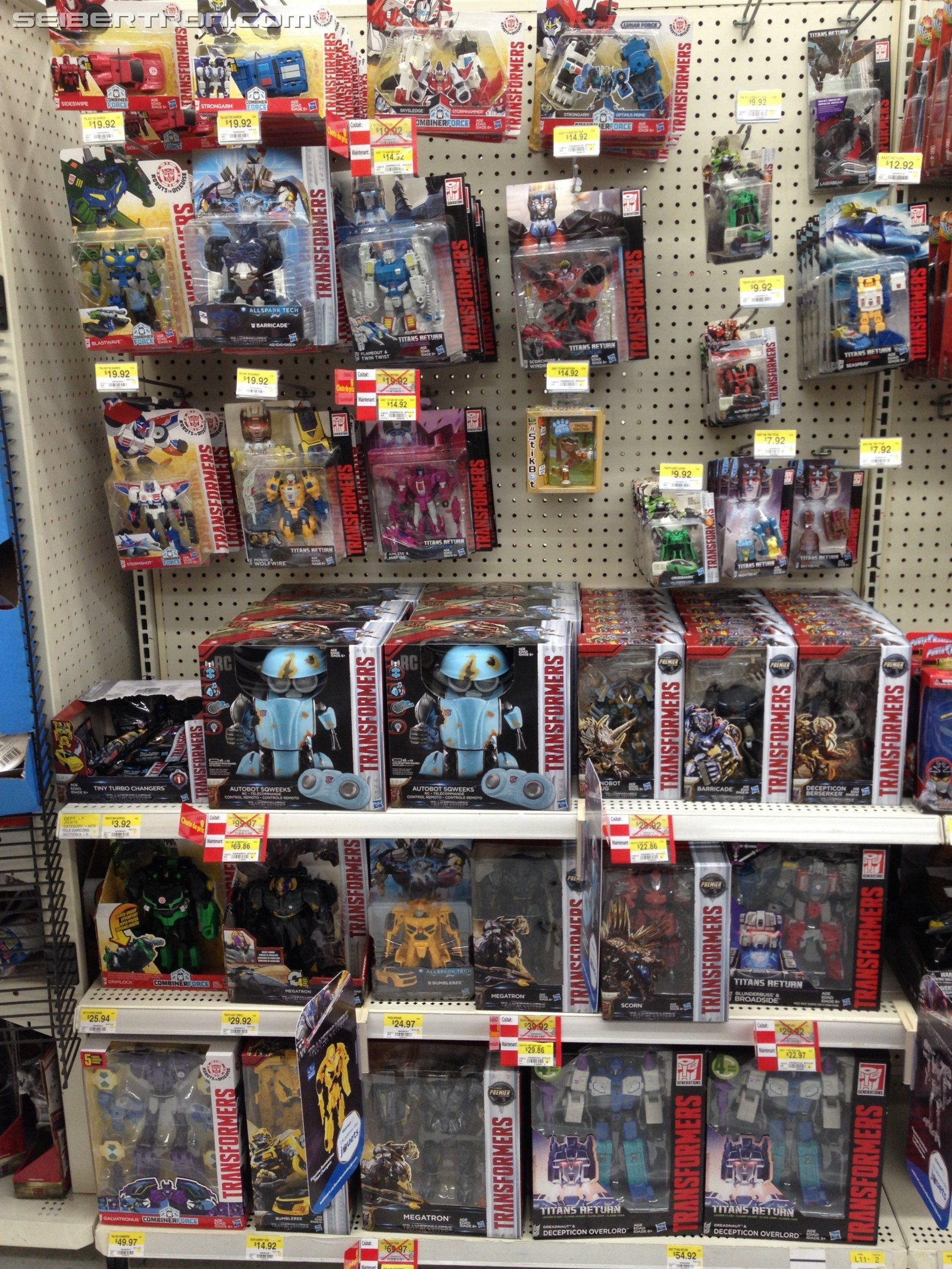 Transformers News: Rollback on Transformers Prices at Walmarts in Canada and the US