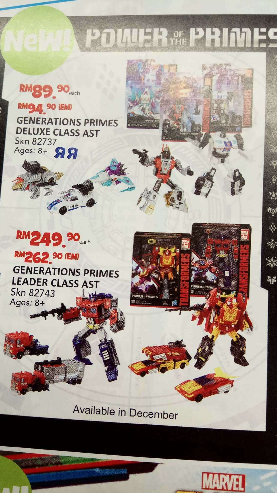 Transformers News: New Images of Transformers Power of the Primes Voyager Starscream, plus Promotional Catalogue