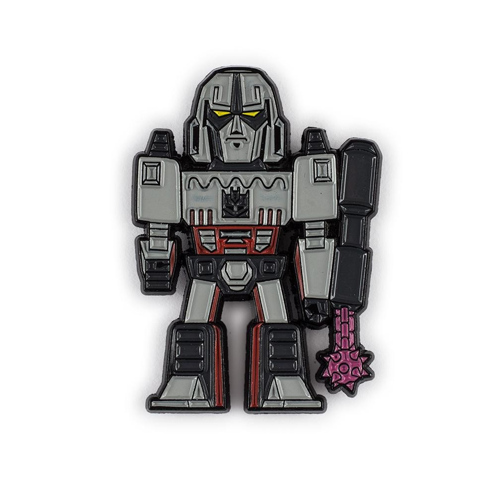 Transformers News: Final Product Images of KidRobot Transformers vs GI Joe Vinyl Figures, Enamel Pins and More