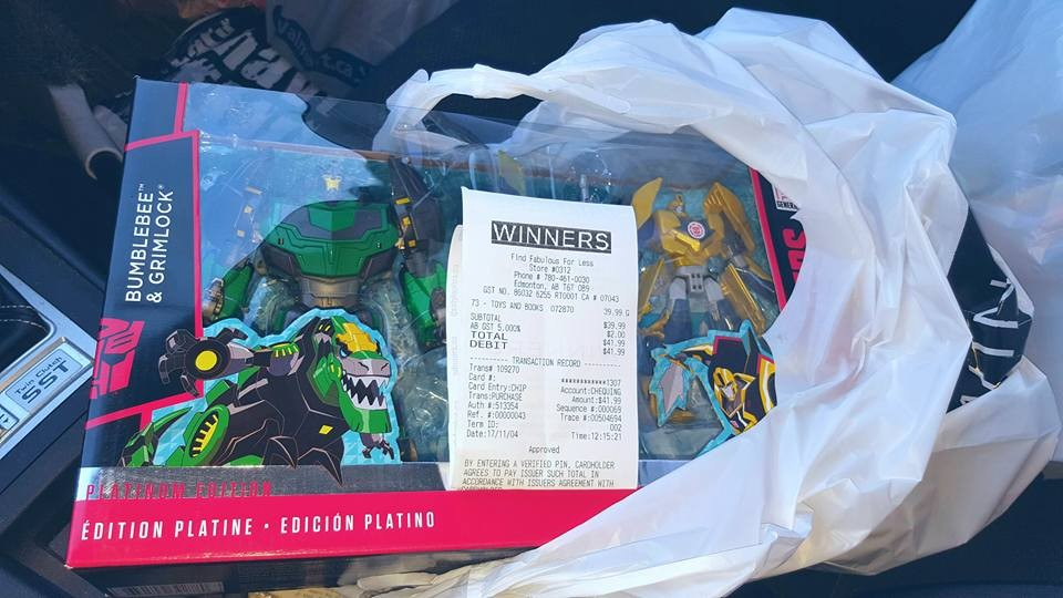 Transformers News: Transformers Platnum Edition RID Grimlock and Bumblebee Found at TJ Maxx Owned Winners in Canada