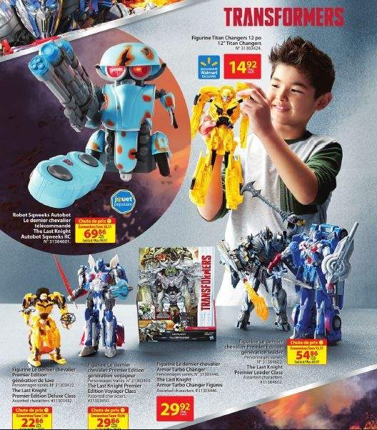 Transformers News: Transformers Prominently Featured in Both Toysrus and Walmart Holiday Guides in Canada