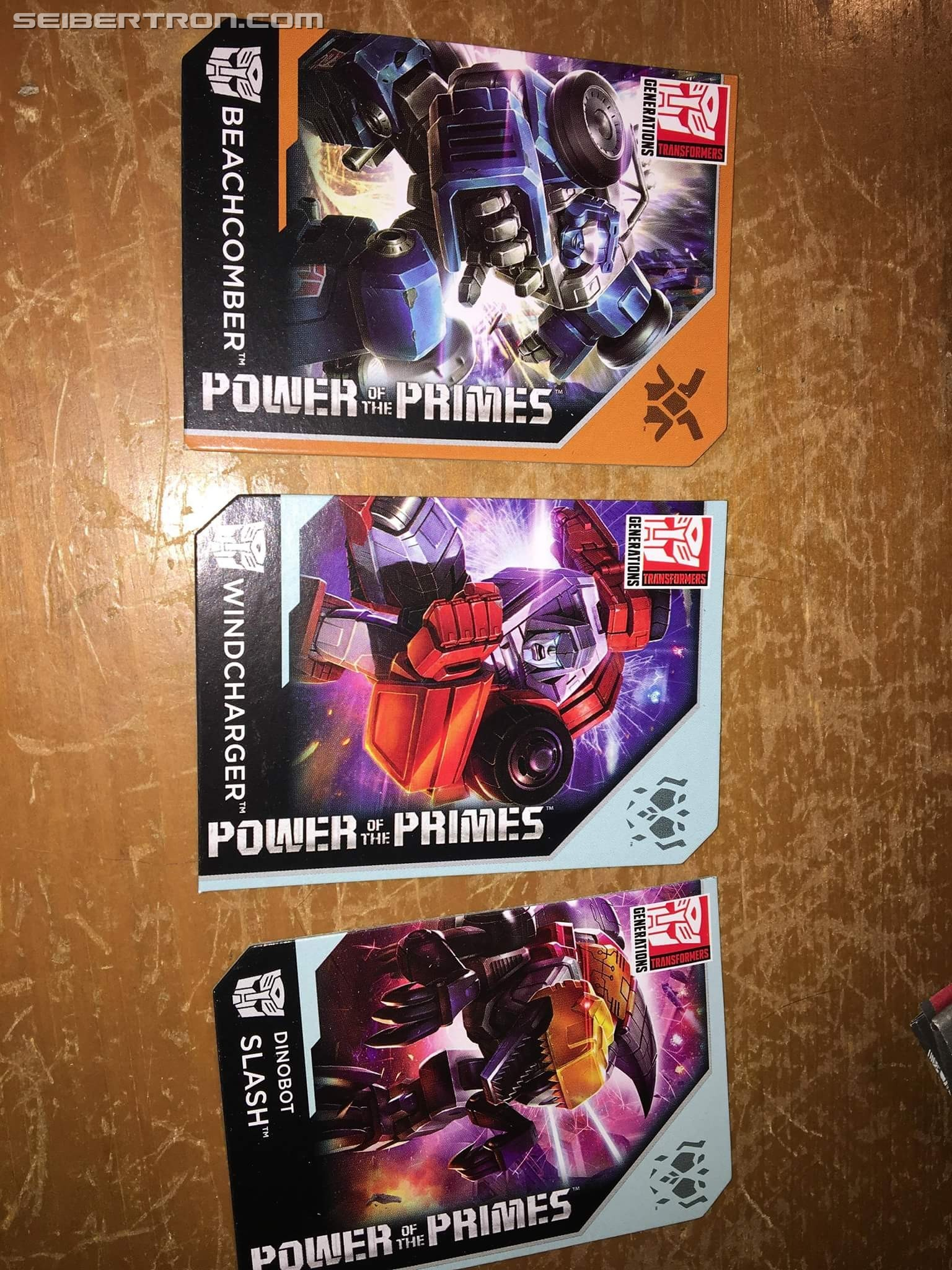 Transformers News: In-Hand Images of Transformers Power of the Primes Legend class Windcharger, Beachcomber, Slash, Sk