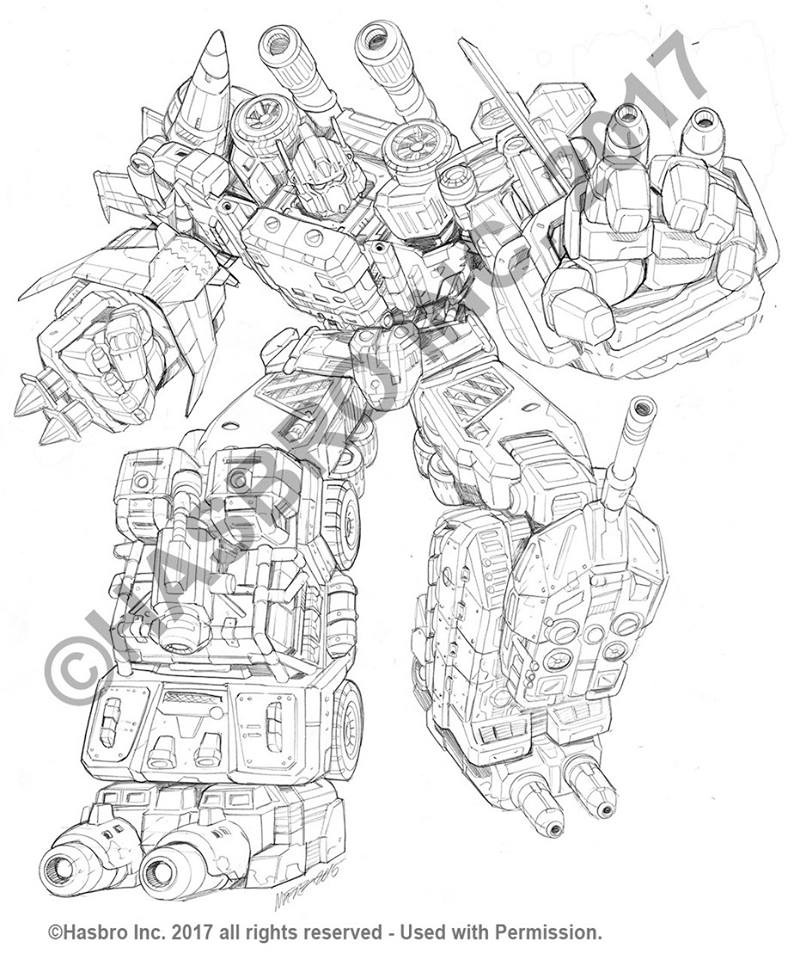 Transformers News: Transformers Generations Combiner Wars Bruticus Art by Marcelo Matere