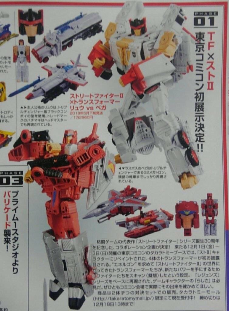 Transformers News: Clearer Images of Takara Tomy Transformers X Street Fighter II Figures