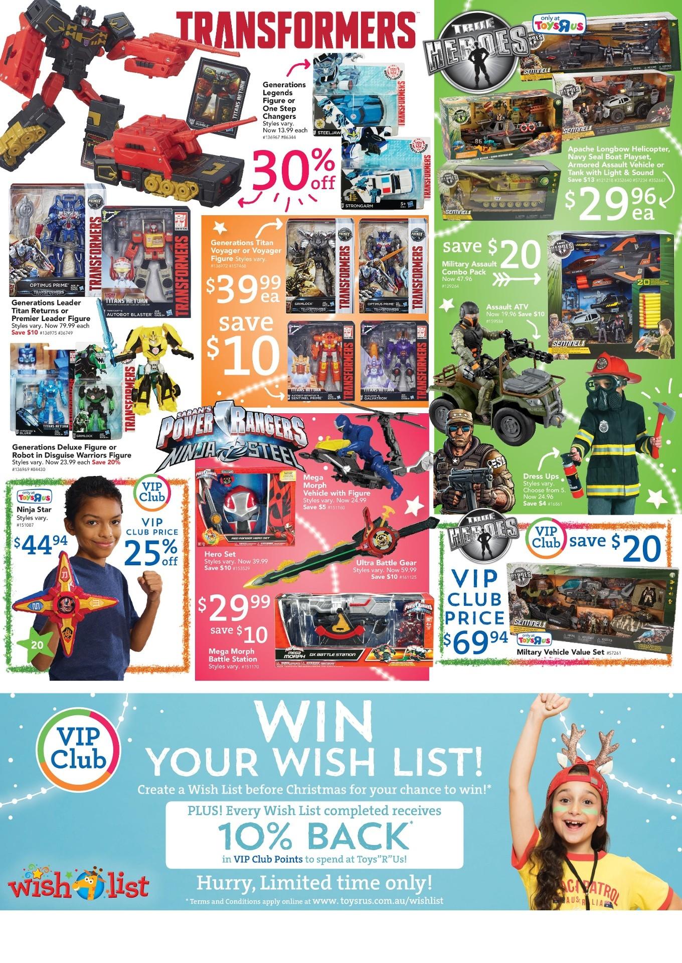 Transformers News: Australian Toys'R'Us Transformers Sales Starting Wednesday 29