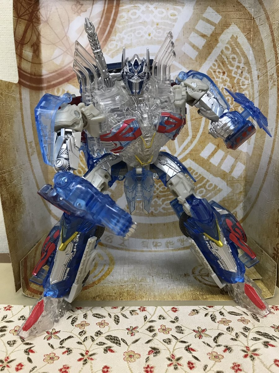 Transformers News: In-Hand Images of Takara Tomy Transformers The Last Knight TLK Clear Edition Optimus Prime