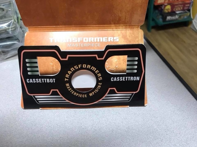 Transformers News: Collector Coin for Transformers Masterpiece MP-15/16-E Cassettbot vs Cassetron