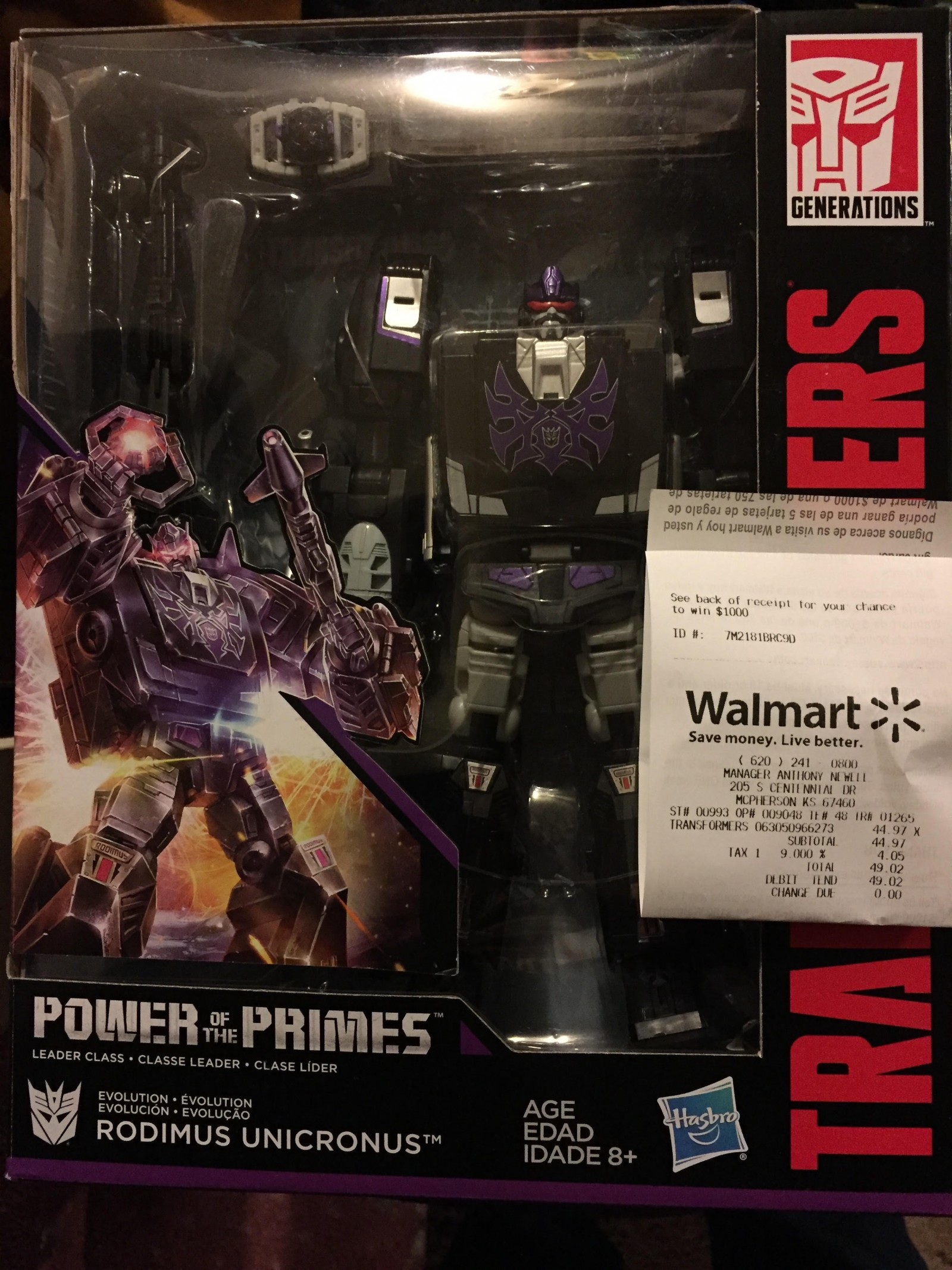 Transformers News: Transformers Power of the Primes Rodimus Unicronus sighted at Retail!