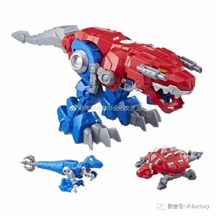 Transformers News: Transformers: Rescue Bots Optimus Primal T-Rex and Wolf Toy Figures UPDATED