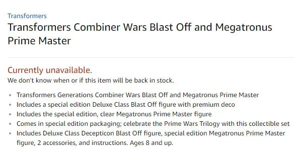 Transformers News: Power of the Primes Blastoff to come with Special Edition Megatronus