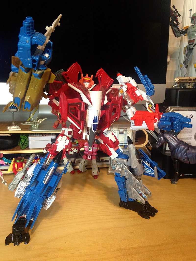Transformers News: In-Hand Pictures of Elita-1 and Abominus in Fully Combined Modes