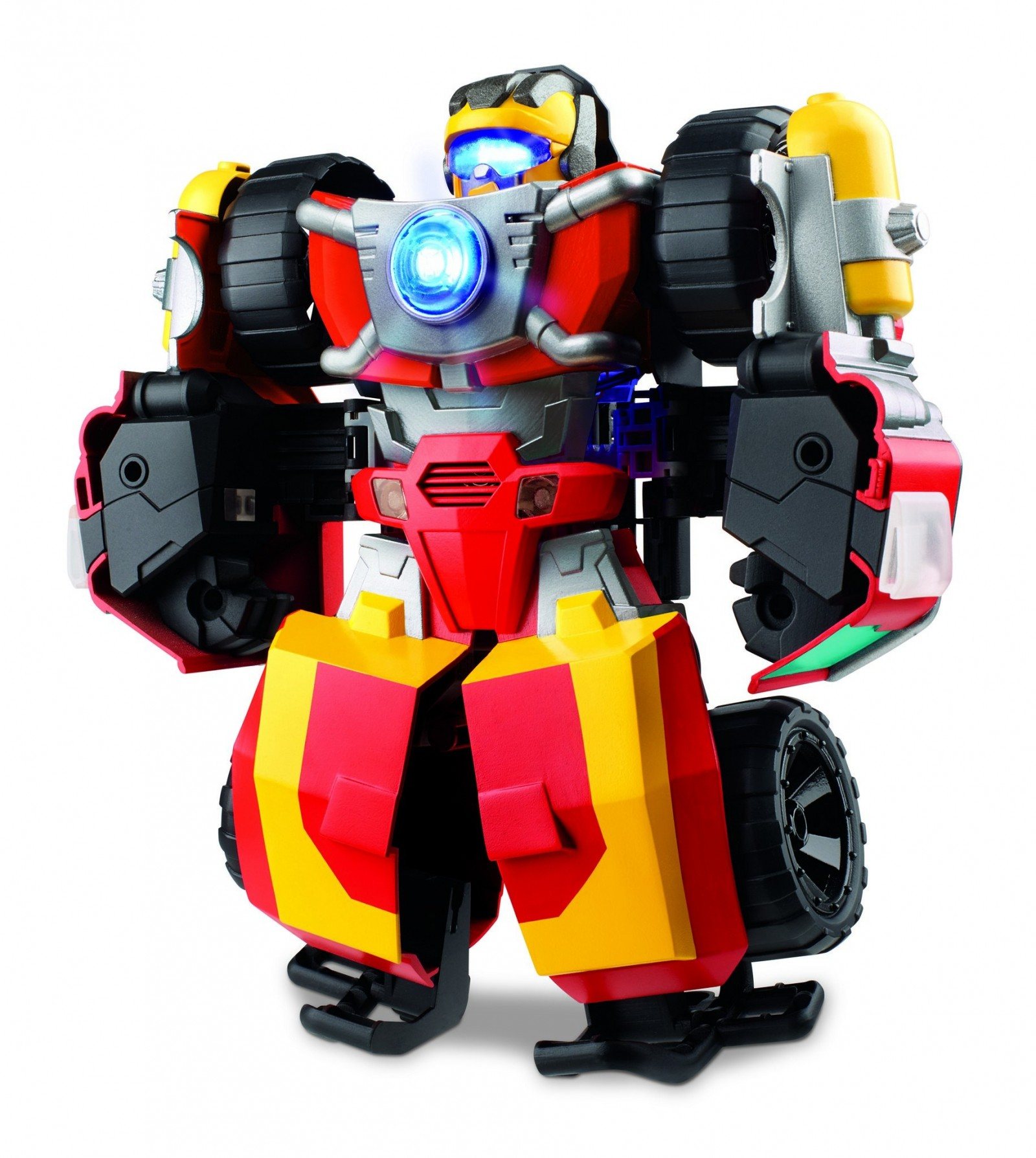 Transformers News: Official Images for Transformers: Rescue Bots Hot Shot, Guard Bumblebee, Knight Watch Optimus, More