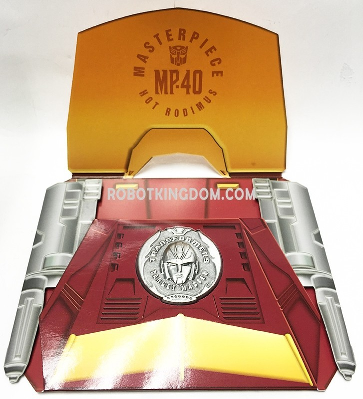 Transformers News: Collector Coin for Takara Tomy Transformers Masterpiece MP-40 Targetmaster Hot Rodimus