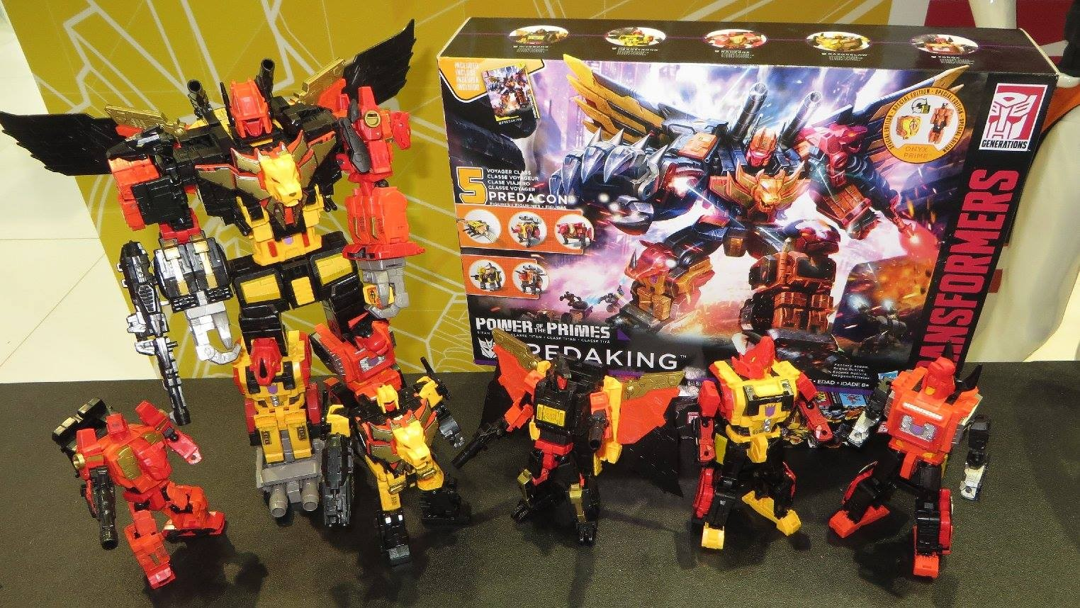 Transformers News: Transformers Power of the Primes Predaking On Display at Australian Toy Fair with G1 Self