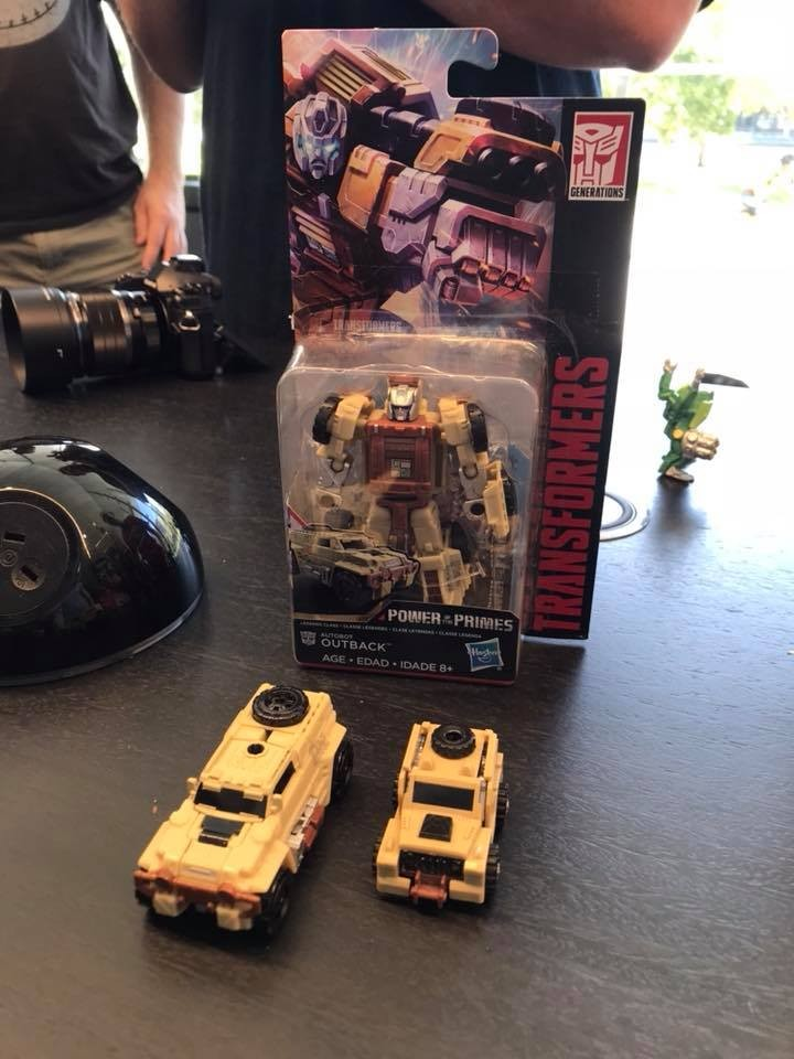 Transformers News: In Hand Images of Power of the Primes Cindersaur, Inferno and Outback from Australia Toy Fair