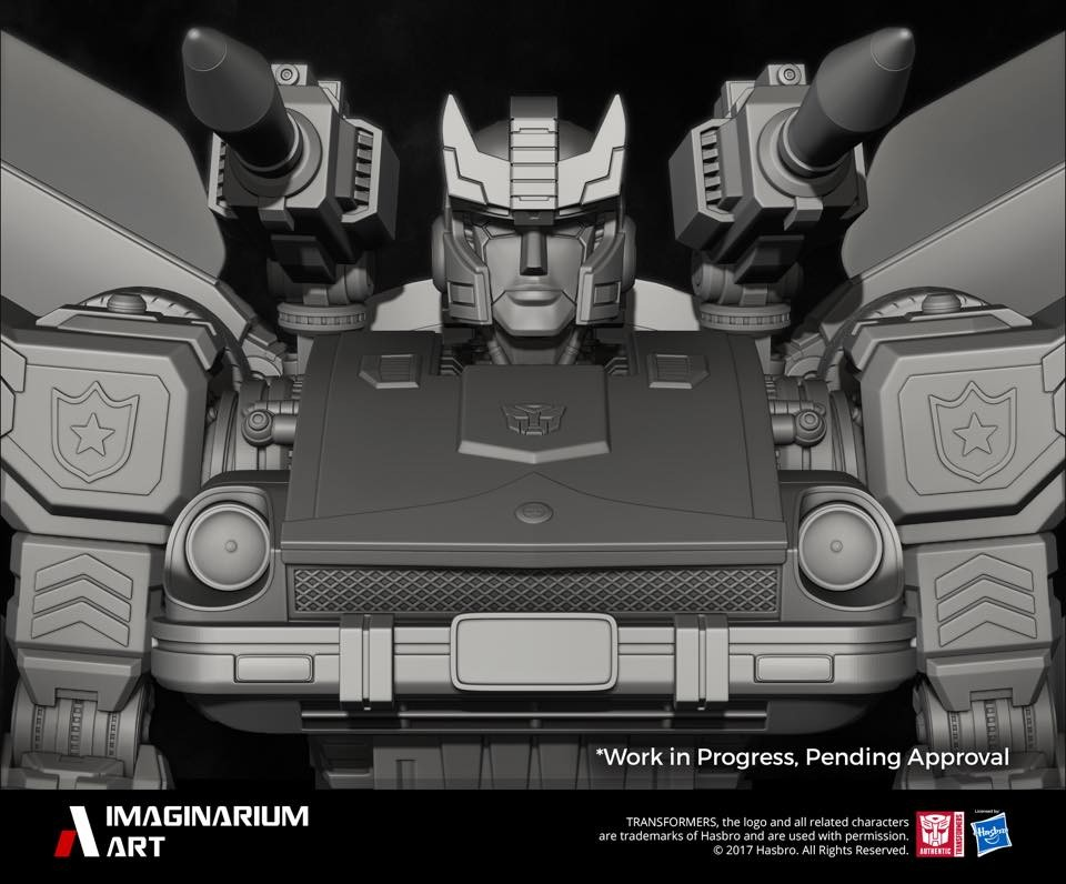Transformers News: Final Render for Imaginarium Art G1 Transformers Jazz, plus Prowl Bust Sculpt