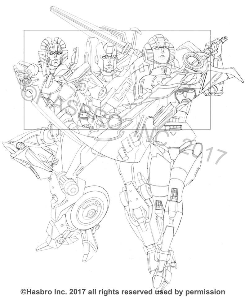 Transformers News: Ken Christiansen Shows Off Combiner Hunters Box Set Line Art